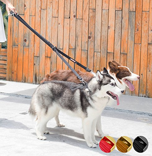 Dogness Classic 6 Way Multifunctional Dog Leash  Double Leash  Hands Free  Tethering With Soft Padded Handle  Adjustable 3   5 6 Ft For Small Medium Large Dogs  Matching Collar Harness Sold Separately