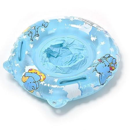 TOYMYTOY Piscina Inflable de Los Niños Bebe Asiento del Flotador del Niño Elefante (Azul): Amazon.es: Juguetes y juegos