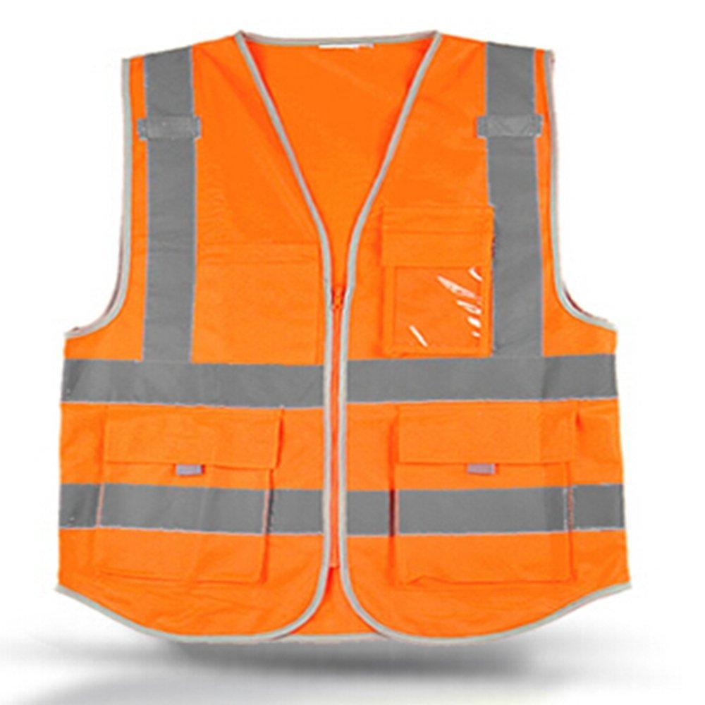 KKTOOL Visibility Reflective Safety Vest, Chaleco Reflectante Amarillo Polyester Lote Seguridad for Seguridad