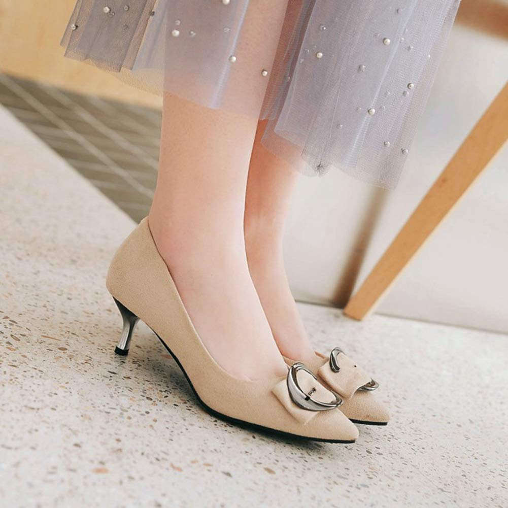Women Toe Fashion Pointy Toe Women Pumps Elegant Buckle Party Wedding Shoe Kitten Heel Slip On Dress Shoes B07GBSJ1Y2 Western 6d9008