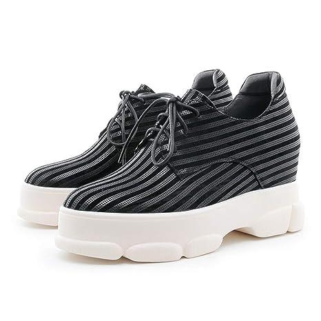 501155fd20 YAN Sneakers da Donna 2019 Nuova Moda a Strisce Scarpe in Pelle ...