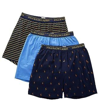22c200110e9 Polo Ralph Lauren Men's 3-Pack Knit Boxers at Amazon Men's Clothing store: