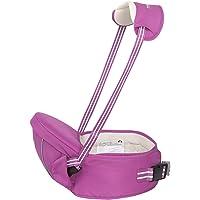 Gabesy - Portabebes con Múltiples Posiciones Asiento para Bebes de la Cadera Cintura Ajustable Bolsillo Lateral con Tirantes de Cuello Bebé de 4-36 meses