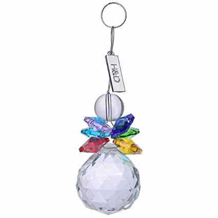 Amazon hd crystal ball pendant chandelier prism hanging hd crystal ball pendant chandelier prism hanging suncatcher multi color aloadofball Images