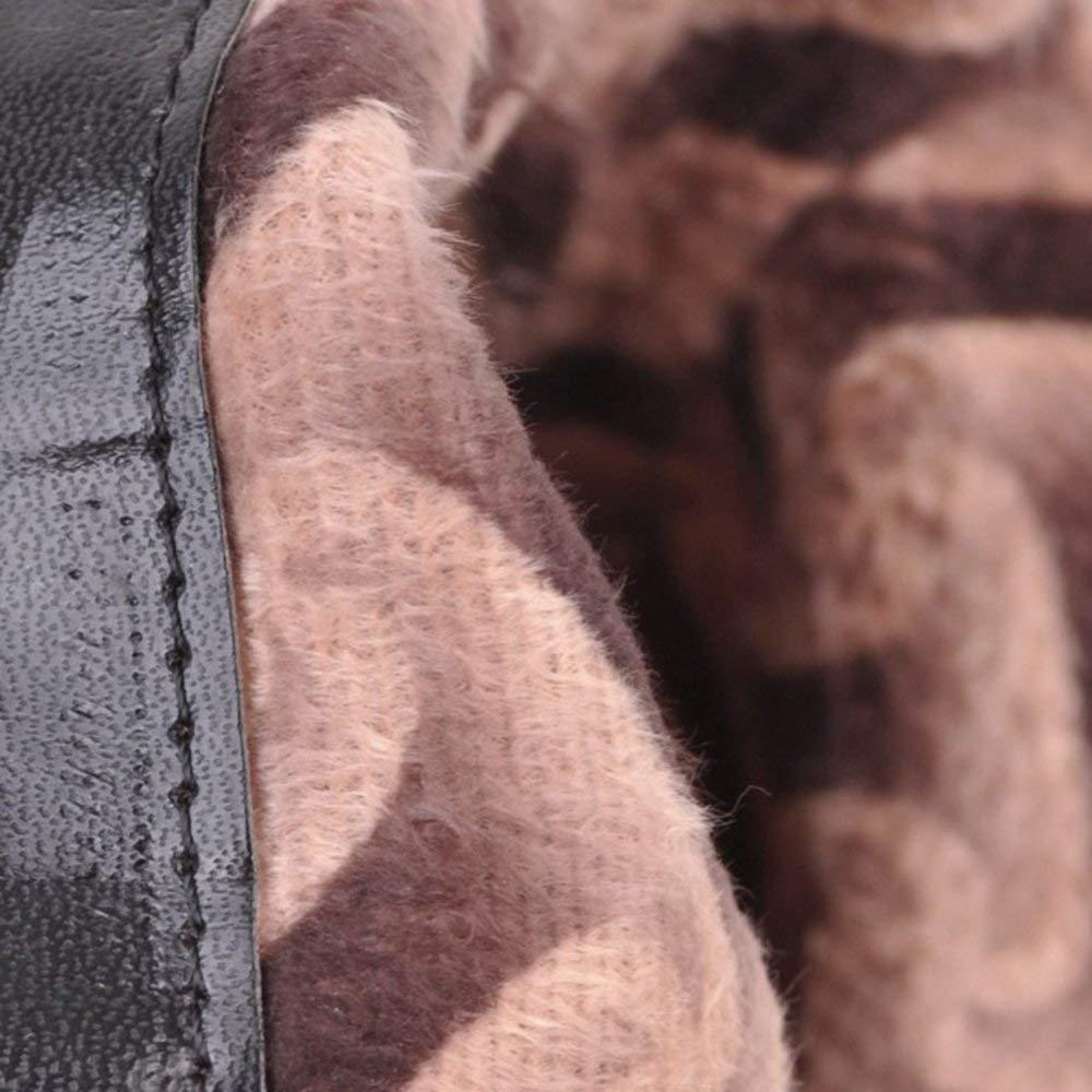 ZHRUI Damenmode Block Mittlere Ferse Stiefeletten Seitlicher Reißverschluss mit Schnalle Schnalle Schnalle 610763