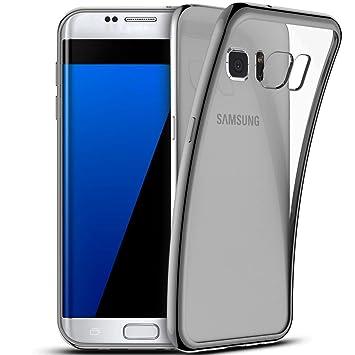 Funda Samsung Galaxy S7 Edge, Coodio Samsung Galaxy S7 Edge Funda Carcasa Case Chrome Enchapado Bumper [Shock-Absorción] [Anti-Arañazos] Silicona Case ...