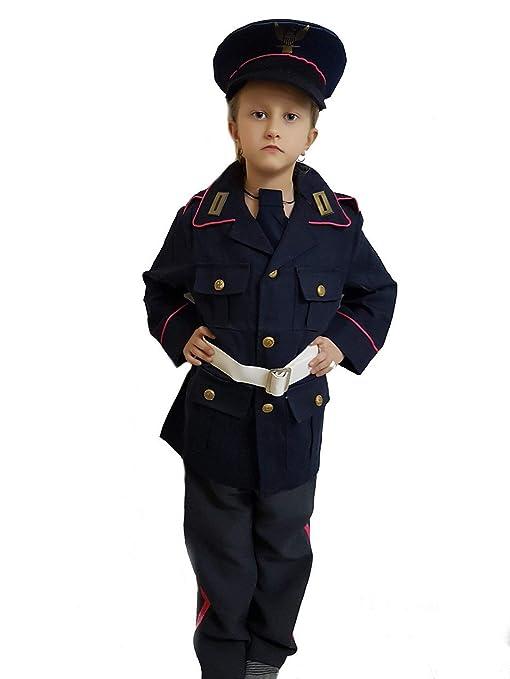 PICCOLI MONELLI Costume Vigile Urbano Bambino 6 7 Anni Vestito Vigile di  Carnevale con Accessori Pistola 54bb97918e1f