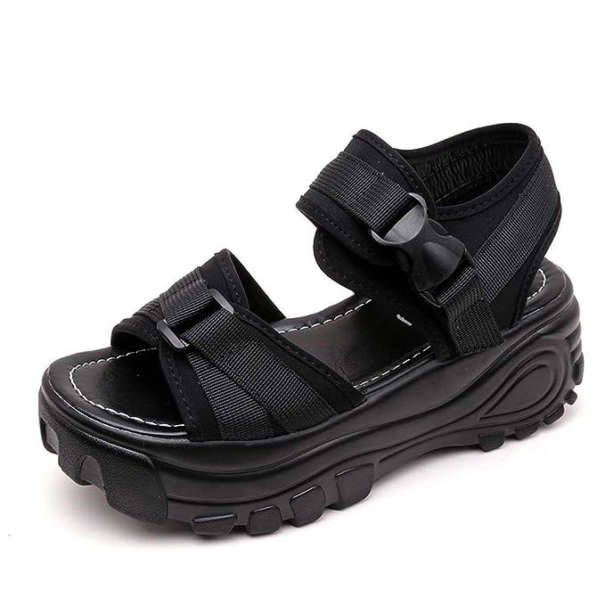 Sandalias de Mujer Plataforma Gruesa, ❤ Absolute Moda para Mujer Boca de Pescado Plataforma Gruesa Cuñas Mocasines Sandalias Zapatos: Amazon.es: Ropa y ...