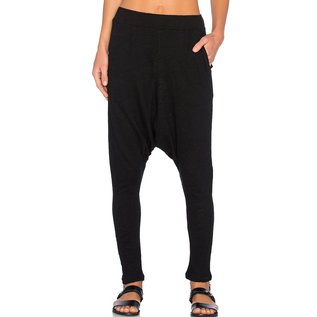 May& Maya Women's Black Harem Pants