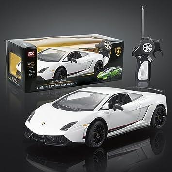 dx 118 scale lamborghini gallardo lp570 4 superleggera radio control car white