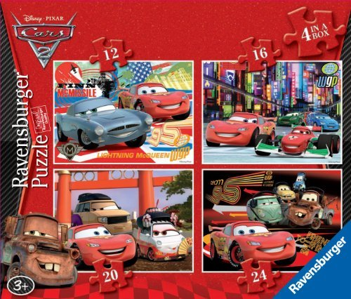 Disney Cars 2 12 16 20 24 Piece 4 Jigsaw Puzzle - Francesco Cars 2 Costume