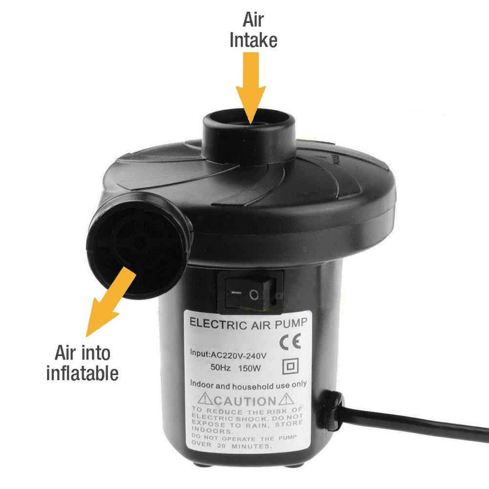 Aufblasbare Matratze Lambony Elektrische Luftpumpe Elektropumpe Power Pump mit 3 Luftd/üse Pool Schwimmring Luftpumpe f/ür Luftmatratze Schlauchboot Luftpumpe Elektrisch 12V//150W