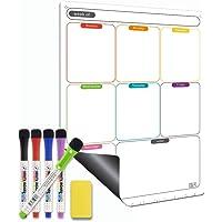 Magnetic Calendar for Refrigerator Set. Weekly Dry Erase Fridge Calendar Whiteboard Meal Planner Menu Board - Thickened…