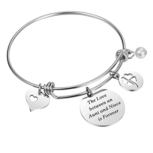 AUNT NIECE Gift The Love Between An Aunt And A Niece Is FOREVER Bracelet Birthday For Jewelry Bangle Top Christmas Gifts 2018