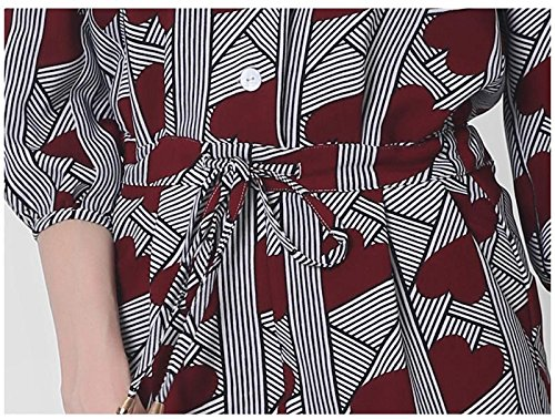 Il Libero Tempo Donne V Collo Stampati Moda Tuta Zll Pantaloni Xxl Sciolto Manica Per Ritagliata z4wvPdqxa