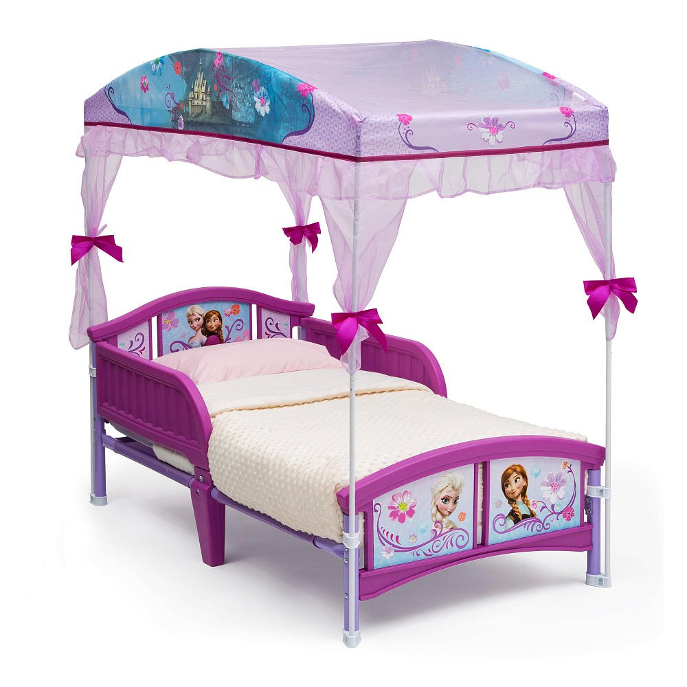 - FROZEN Toddler Canopy Bed With 4 Piece Bedding Set Super Value