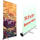 yescom aluminum trade show retractable roll up portable banner stand with carry bag 395 x