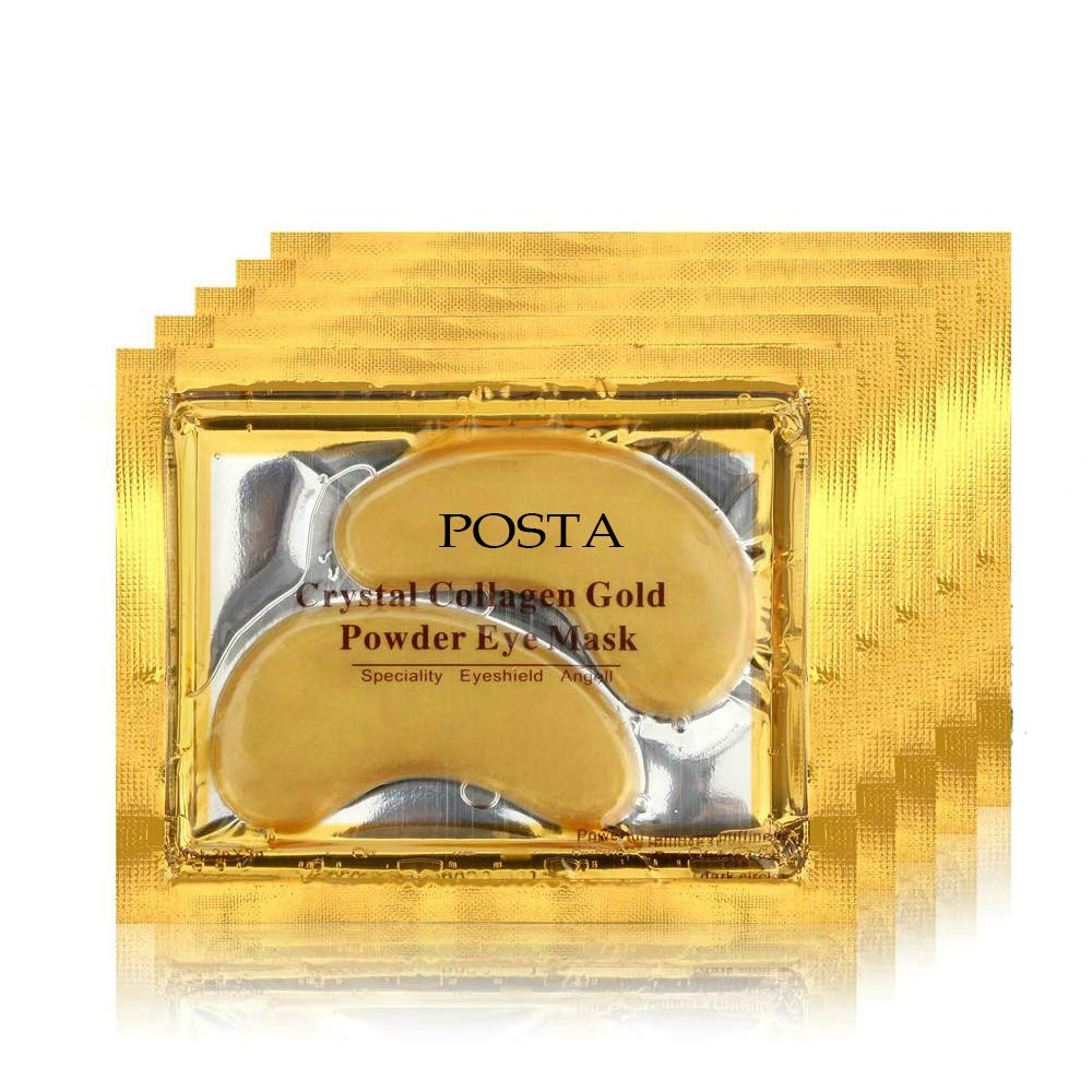 POSTA 24k Gold Eye Mask, 20 Pairs Eye Treatment Mask With Collagen, Under Eye Mask Treatment for Puffy Eyes, Dark Circles Corrector, Used for Eye Bags, Anti Aging Patches Luxury Gift for Women and Men by POSTA