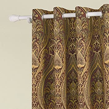 IYUEGO Cotton Chenille Rayon Energy Saving Grommet Top Curtain With Multi Size Custom 42 W x 84 L One Panel