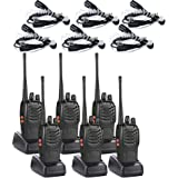 Walkie Talkies(6 Pack) 2 Way Radio with 6 Earpiece UHF 400-470Mhz Two Way Radios