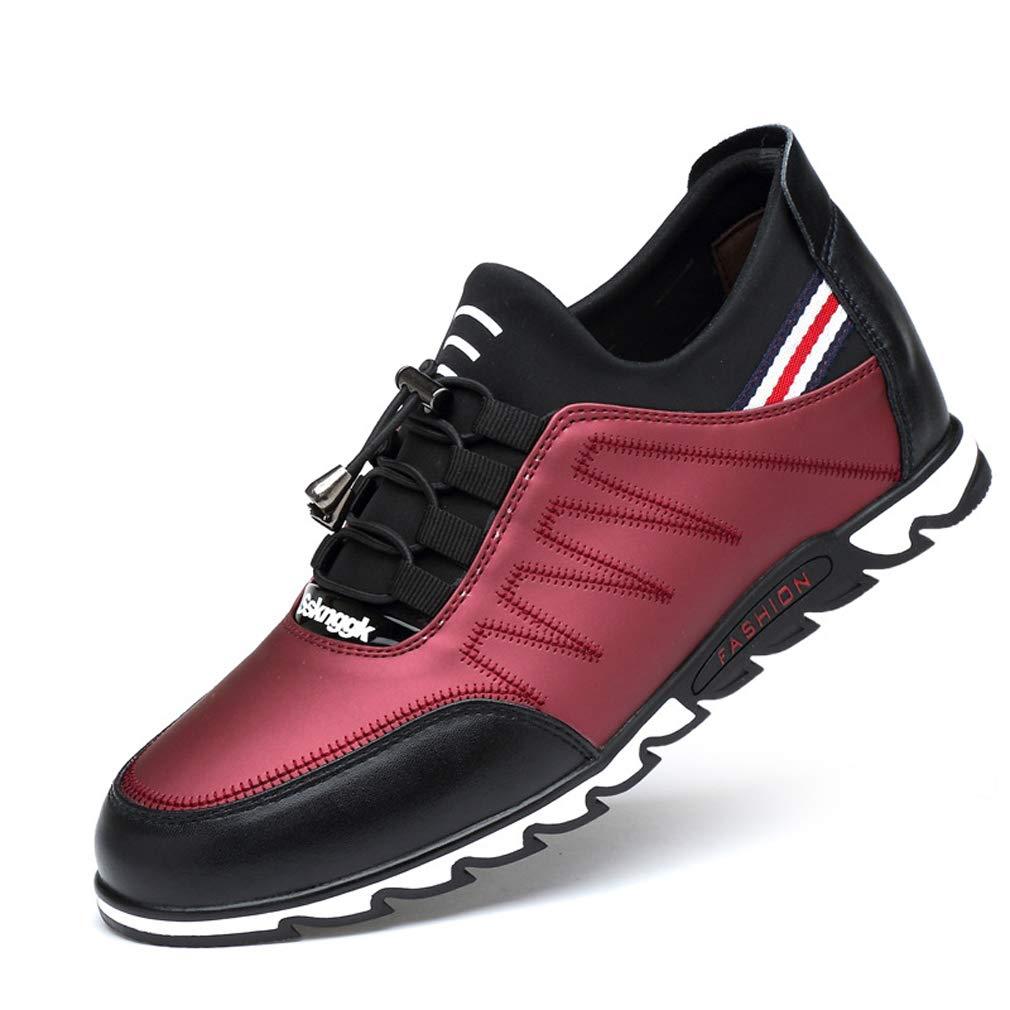 GoldGOD Herren Sportschuhe, Leichte Schuhe, Mode Herren Laufschuhe,rot,43UK