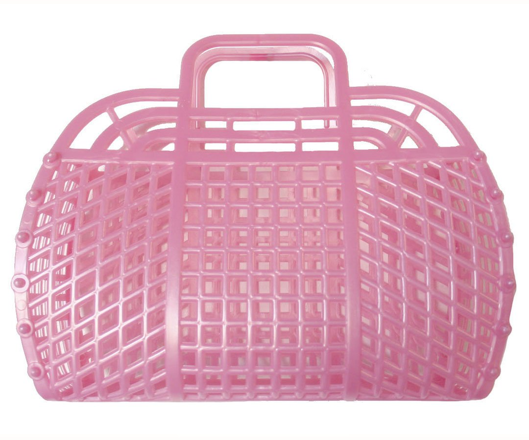 The Original Retro Jelly Purse, Handbag, 9'', Pearl Pink