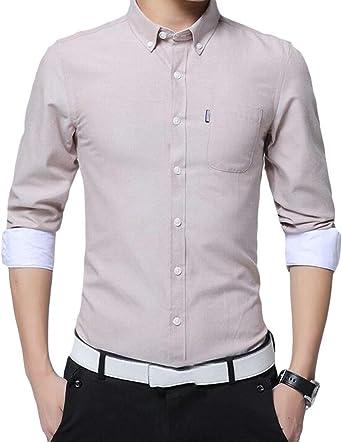 UUYUK Men Floral Print Long Sleeve Fall /& Winter Button Down Regular Fit Dress Shirt