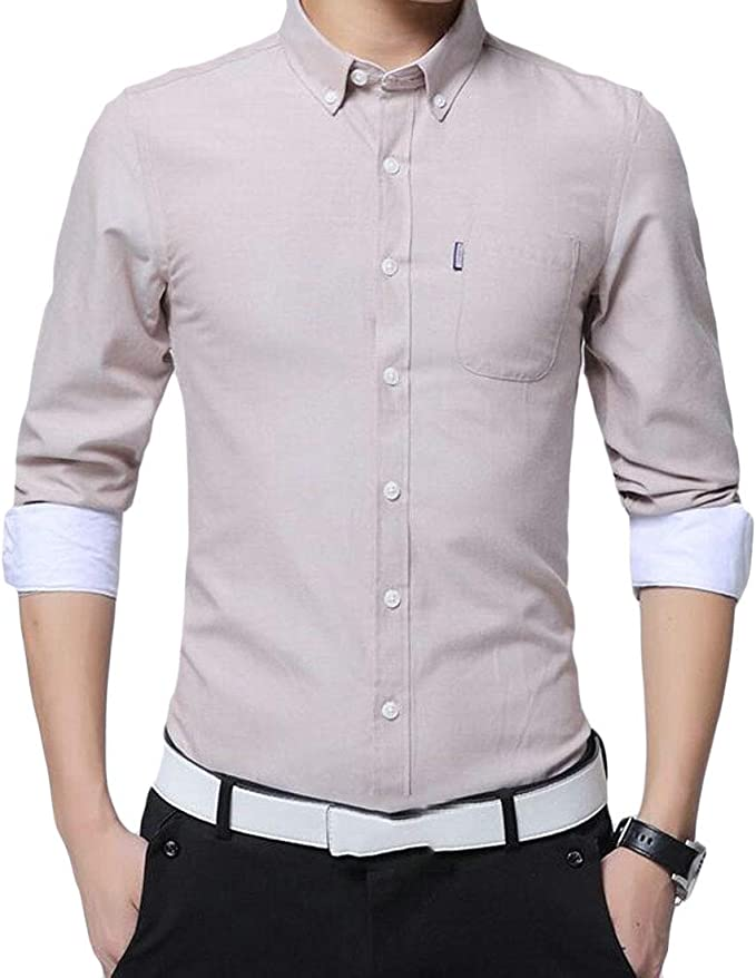 Fubotevic Mens Casual Short Sleeve Button Down Embroidery Regular Fit Denim Work Western Shirt