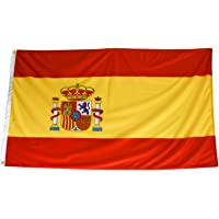 Bandera de España Grande Exterior Alta Calidad 150 x 90 Centímetros, 2 Unidades, Colores