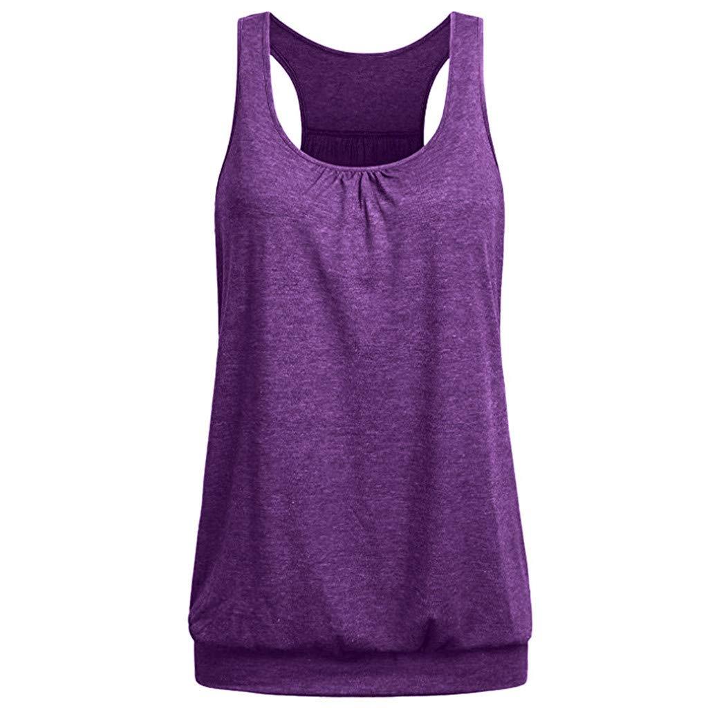 Suitray Muskelshirt Damen Elegant Einfach Ärmellos Einfarbig Tunik-Tops Camis-Top Freizeit Tunika Minikleid Leibchen Bluse Weste Mode Mädchen Teenager T-Shirt Minikleid Hemd