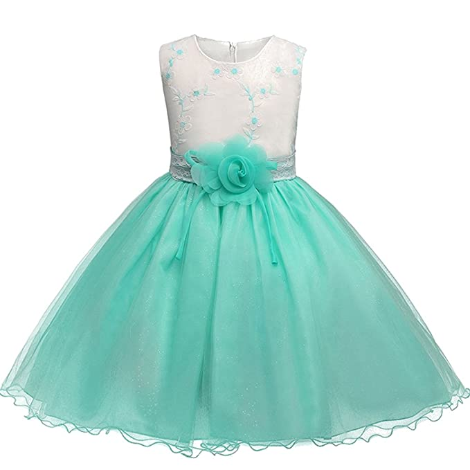 3a89f0229 BOZEVON Niñas Lentejuelas Vestido de Tul Corto para Boda Princesa ...