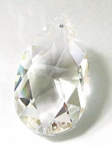 1 pc Swarovski Crystal 6106 Teardrop Charm Pendant Clear 38mm /  Findings/Crystallized Element