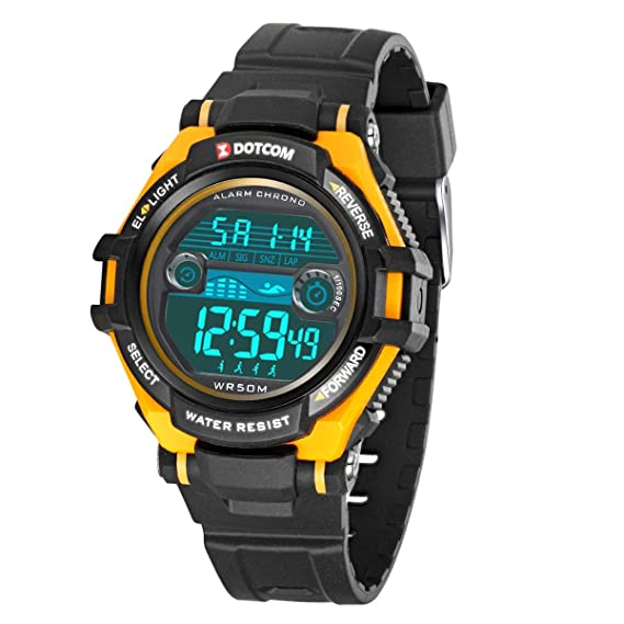 Relojes de Pulsera Electrónicos para Niños Niños Digital Relojes Deportes–5 ATM Reloj Deportivo Impermeable al Aire Libre con Alarma Cronómetro Luces ...