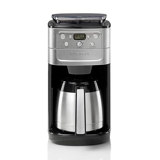 Cuisinart DGB900BCU Cafetera con molinillo de café incorporado, 1000 W, Acero inoxidable