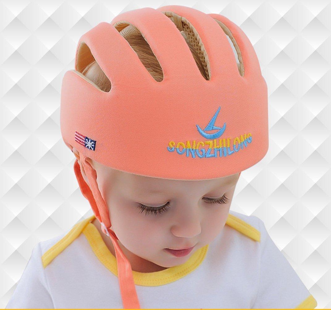 Ibepro/® Infant Baby Toddler Safety Helmet Kids Head Protection Hat for Walking Crawling baby Children Infant Adjustable Safety Helmet Headguard Protective Harnesses Cap Orange