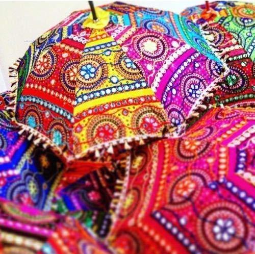 Indian Wholesale Lot 20 PC Traditional Indian Designer Handmade Rajasthani Decorative Umbrella