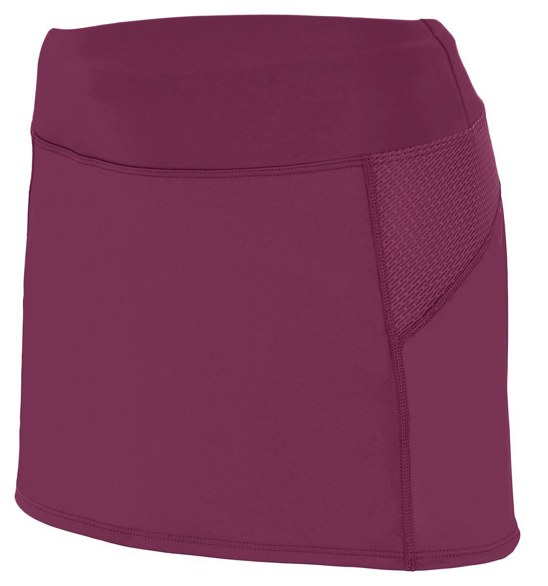2420 AG LADIES FEMFIT SKORT MAROON/ GRAPHITE 2XL