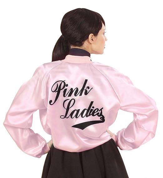 shoperama años 50 y 60 Rosa Ladies Mujer Chaqueta Grease ...