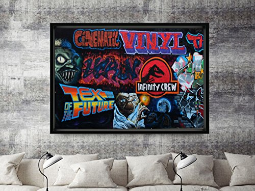 Tex of the Future Modern Contemporary Graffiti Mural Custom Kicks Sneaker Poster Art Print