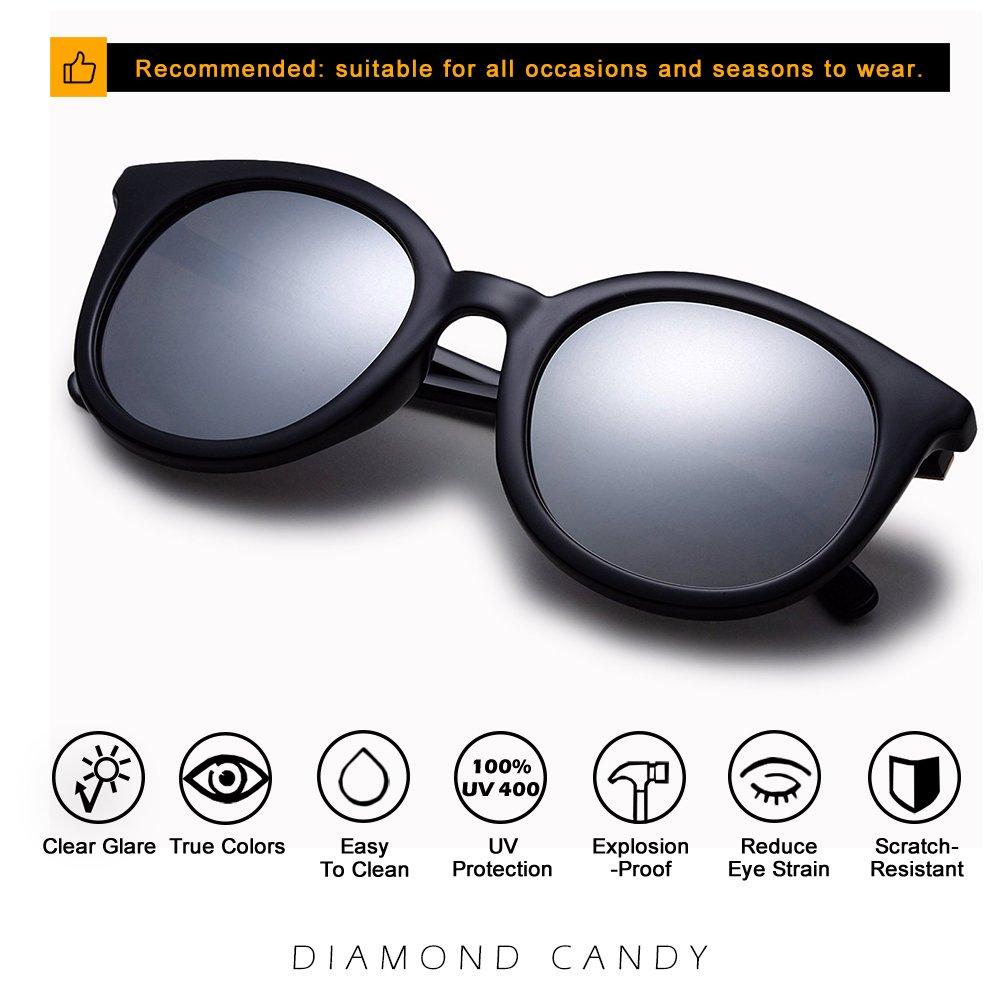 Diamond Candy Women\'s Sunglasses UV Protection Polarized eye glasses Goggles UV400 54Blacksilver