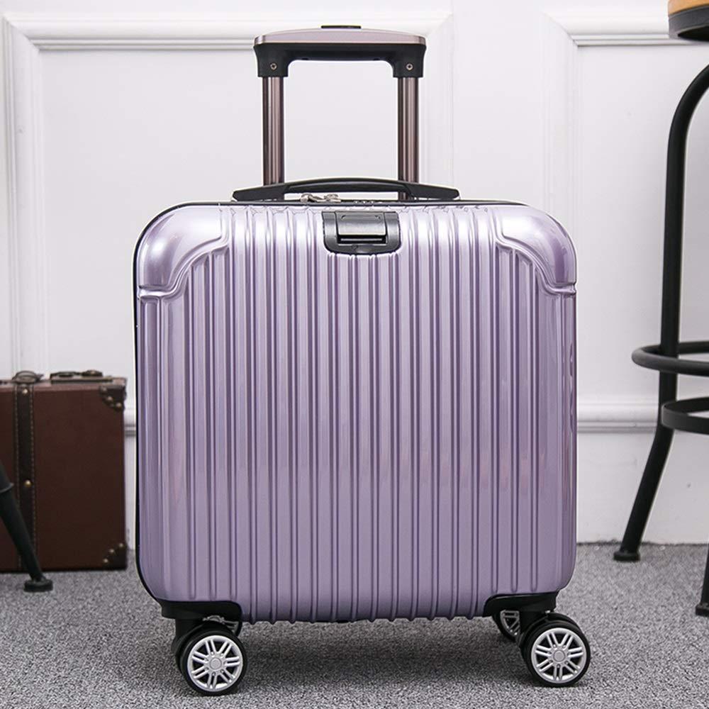 YD スーツケース トロリーケース - ミニボーディング、便利なシャックル、ウォーターカップホルダー、ラップトップ、近距離出張に最適、6色利用可能 /& (色 : Purple) B07MW1BNJQ Purple