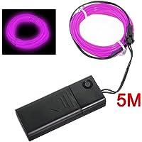 SODIAL(R) EL purpura flexible de alambre de neon