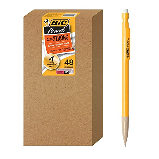 BIC Pack of 48 Pencils, Durable Mechanical Pencil (WX7AZ667)