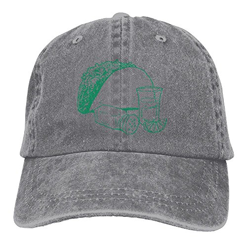 Vintage Cap Hat Taco and Tequila Sketch Six-Panel 3D Print Adjustable Baseball Hat For Unisex Ash (Tequila And Sprite)