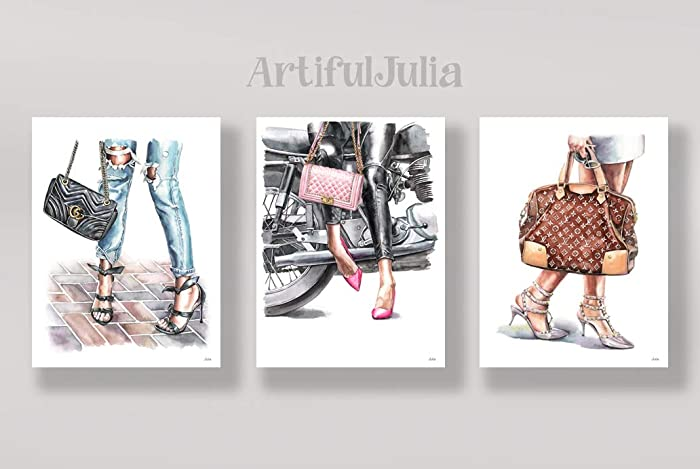 amazon com 3 prints of art print of watercolor painting a set of 3