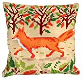 RTO Red Fox Collection D'Art Stamped Needlepoint Cushion Kit, 40 x 40cm