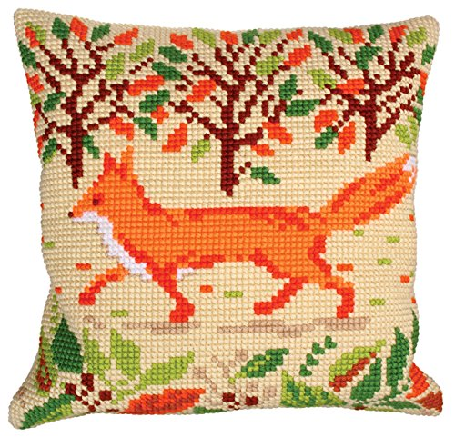 RTO Red Fox Collection D'Art Stamped Needlepoint Cushion Kit, 40 x 40cm by RTO