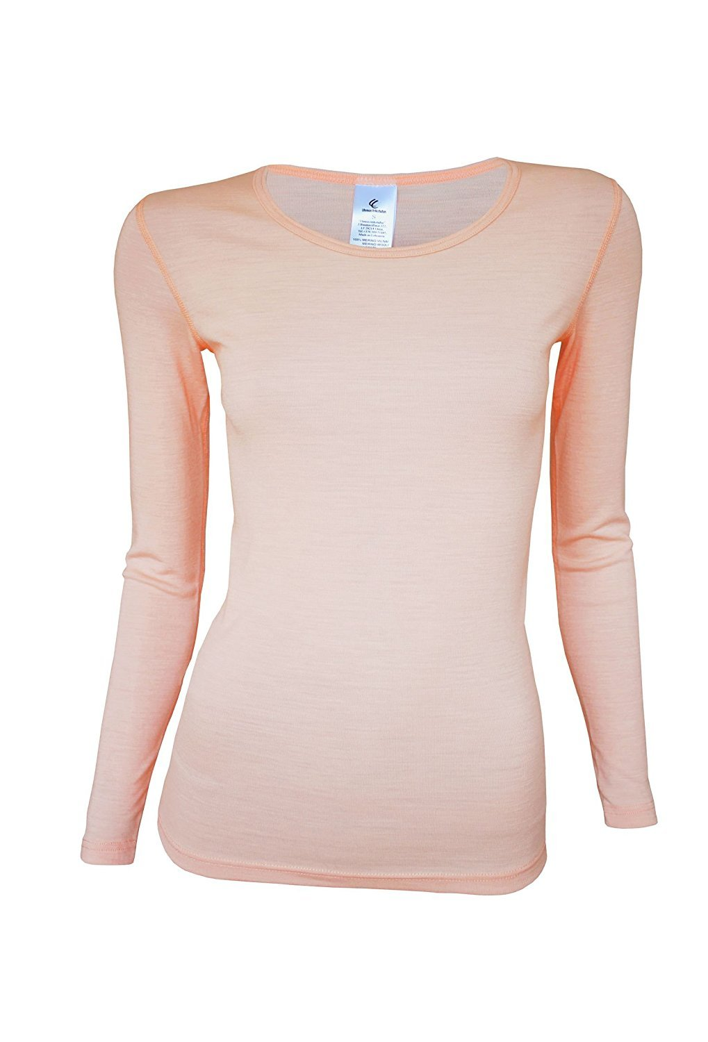 Amazon.com : Utenos Merino Wool Ultra Soft Woman Longsleeve Shirt Base Layer Made in Europe Union : Sports & Outdoors