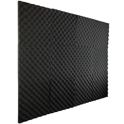 EisEyen - Insonorizante de algodón para Aislamiento acústico, 30 x 30 cm, 24 Unidades