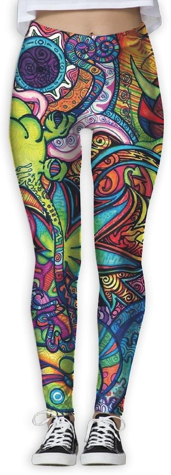 Lava Lamp Plus Size Leggings Rainbow Leggings Yoga Leggings Yoga Pants Women Tights Psychedelic Clothing Hippie Clothes Trippy Woodstock